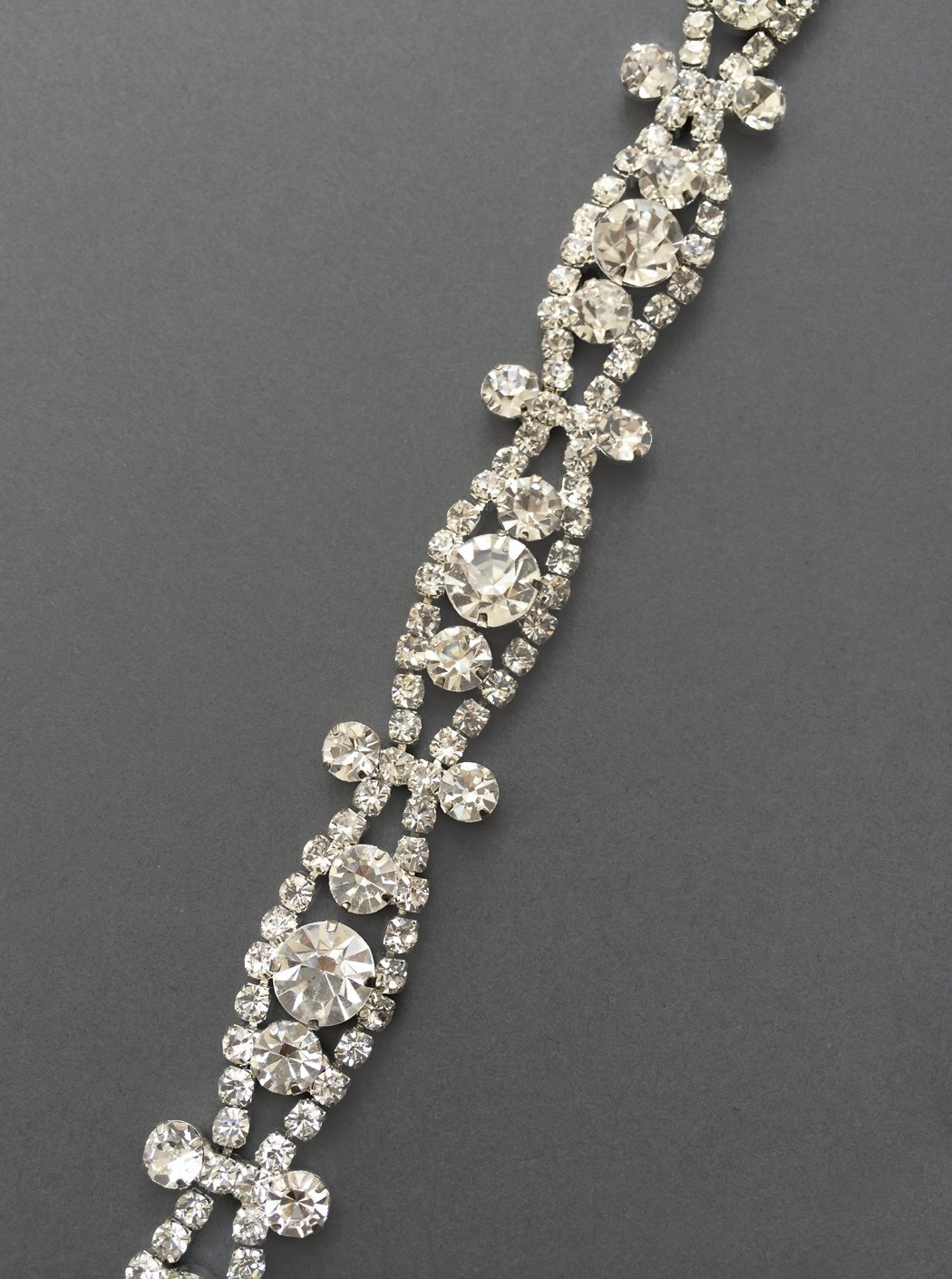 Art Deco Crystal Bridal Headband - Wedding Headband