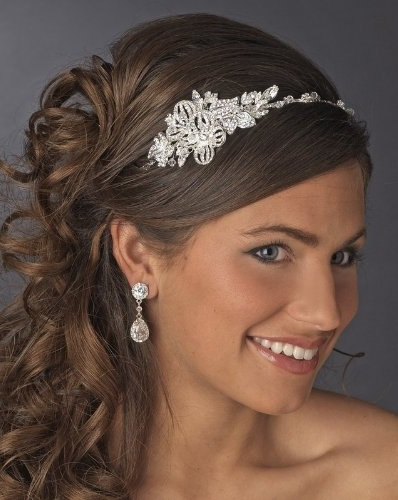 Beautiful Crystal Side Accented Bridal Headpiece Bridal Headband