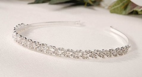 Wedding Bridal Headband Tiara, Silver