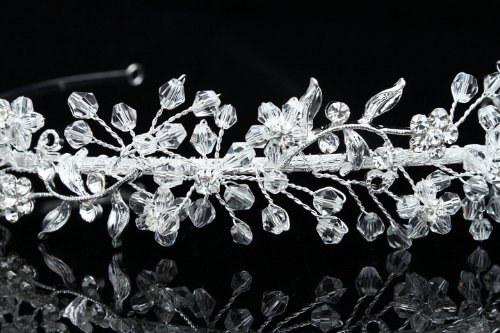 Crystal Flower Bridal Wedding Headband Tiara
