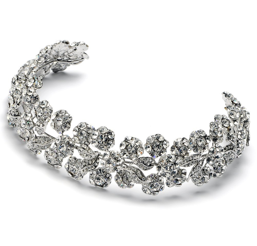 Designer Crystal and Rhinestone Wedding Bridal Headband