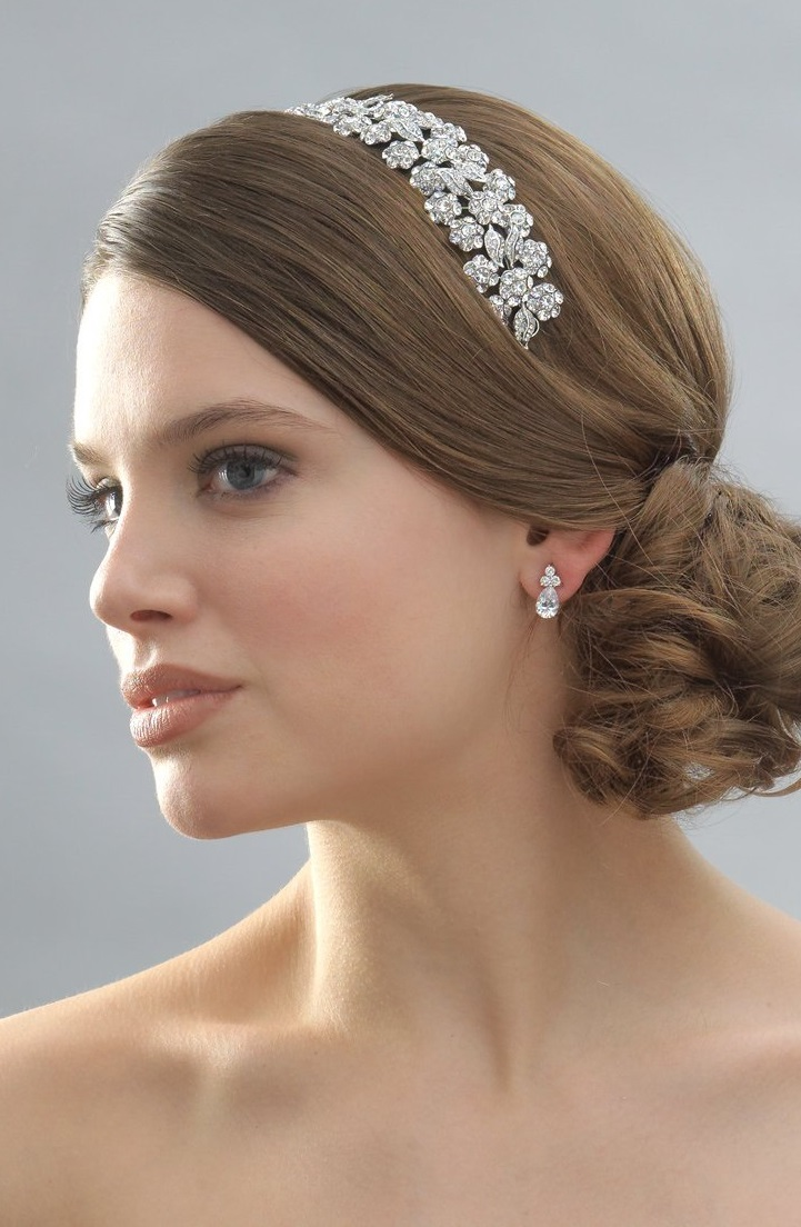 Floral Crystal and Rhinestone Wedding Bridal Headband