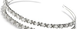 Double Band Crystal and Rhinestone Bridal Headband