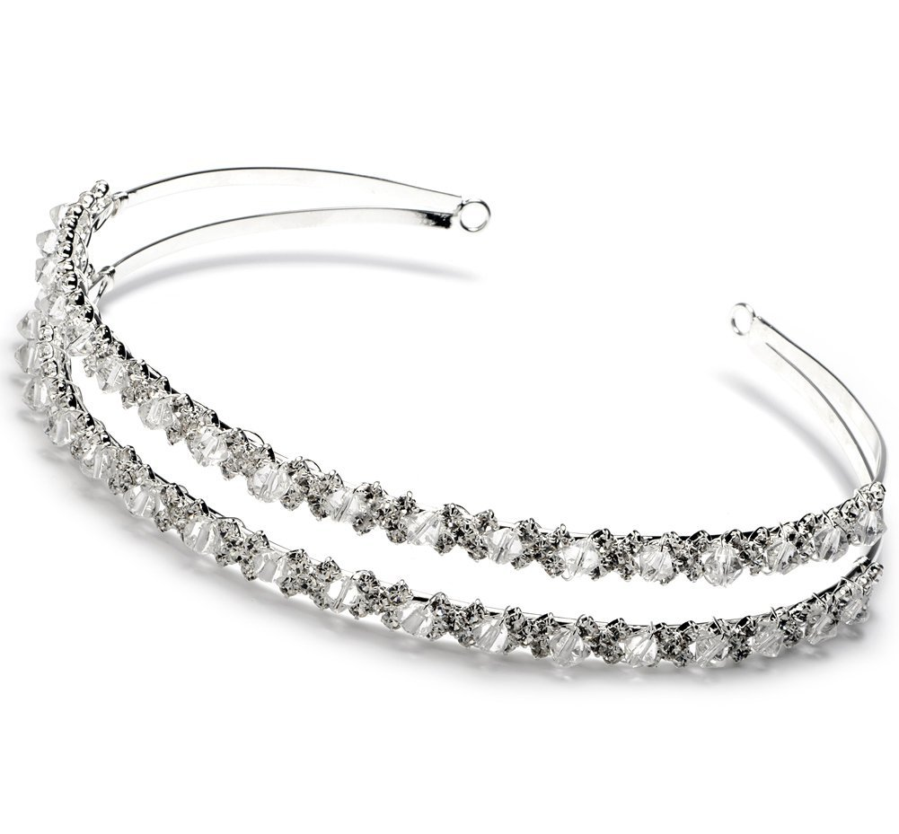 Silver Wedding Bridal Headband