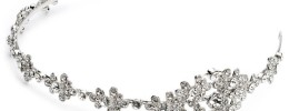 Side Accented Crystal Bridal Headband