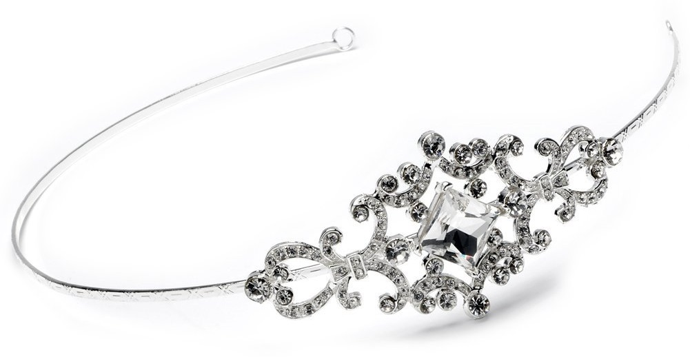 Wedding Headband Bridal Tiara with Side Rhinestone
