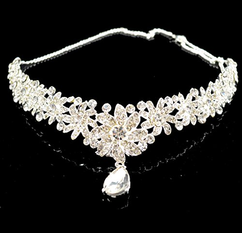 Diamond Flower Wedding Bridal Headband