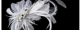 Feather and crystal Bridal headband on sale