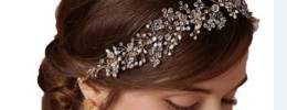 Delicate Crystal Spray Bridal Headband