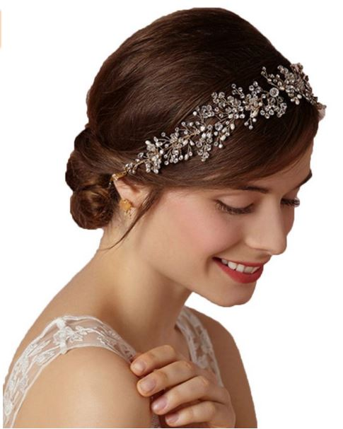 Crystals Bridal Headband Wedding Headpiece