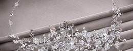 Crystal spray bridal headband
