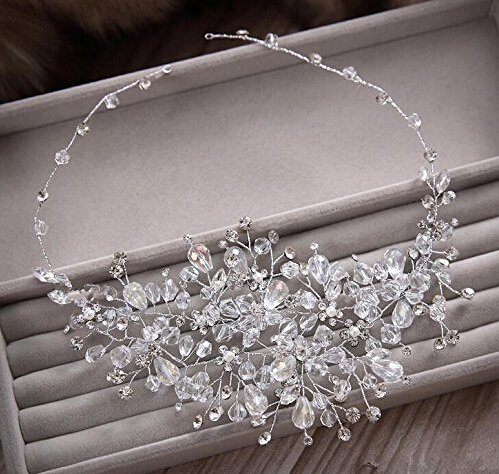 Crystal Diamond Bride Bridal Wedding Accessory Hair Head Band Rhinestone Headdress